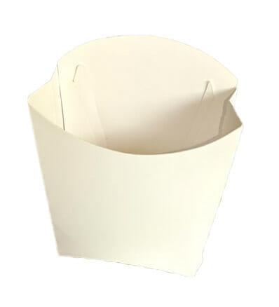 Caixa Batata Personalizada - Triplex 250g na cor branca.