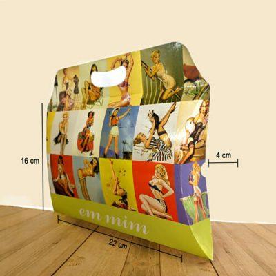Caixa Travesseiro com Alça Personalizada – Média – MOD. 004A