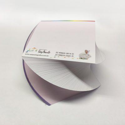 Bloco (500 folhas) personalizado com o seu logotipo