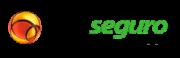 Logotipo da empresa PagSeguro. Tem o globo da UOL, nas cores amarelo e laranja, e logo ao lado a escrita